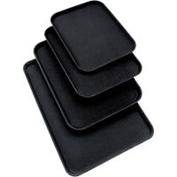 Tablett mit rutschhemmender Oberfläche schwarz  kaufen