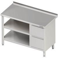 Stalgast Arbeitstisch mit Grund- und Zwischenboden + 2er Schubladenblock links g27956 kaufen