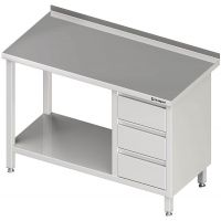 Stalgast Arbeitstisch mit Grundboden + 3er Schubladenblock links g27958 kaufen