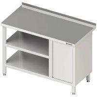 Stalgast Arbeitstisch mit Grund- und Zwischenboden mit Flügeltürschrank links g27962 kaufen