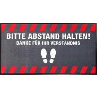 """Hinweismatte / Schmutzfangmatte """"Bitte Abstand halten!"""" g44125 kaufen"""