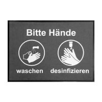 """Hinweismatte / Schmutzfangmatte """"Bitte Hände waschen/desinfizieren"""" g44127 kaufen"""