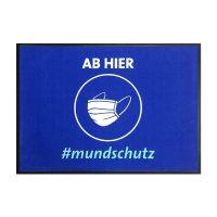 """Hinweismatte / Schmutzfangmatte """"ab hier #mundschutz"""" g44128 kaufen"""
