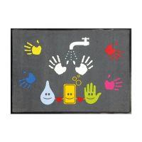 """Hinweismatte / Schmutzfangmatte """"Hände waschen Motiv"""" g44129 kaufen"""