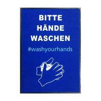 """Hinweismatte / Schmutzfangmatte """"#washyourhands"""" g44133 kaufen"""