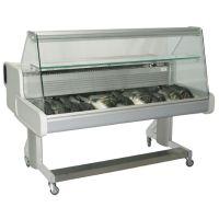 Fischtheke Regua fahrbar gerade Scheibe 1564 mm g14975 kaufen