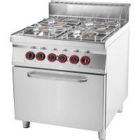 Gasherd 900 4 Brenner & Ober- und Unterhitze Ofen 2/1GN g9523 kaufen
