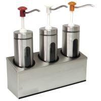 Zylindrischer Soßenspender mit Sichtfenster 3x 2 Liter  kaufen