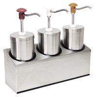 Edelstahl Pumpspender für Soßen3x  2,25 Liter g13329 kaufen