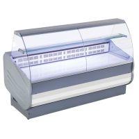 Kühltheke Maister mit gebogenem Hartglas & Stahlblech-Ablage g15638 kaufen